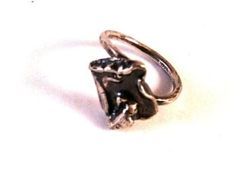 Fused, Formed, Forged, Serling Silver Ring