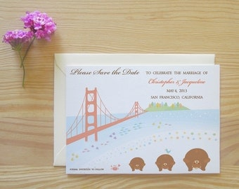 San Francisco Save the Date Cards Package - California Bears - Rajio Taiso