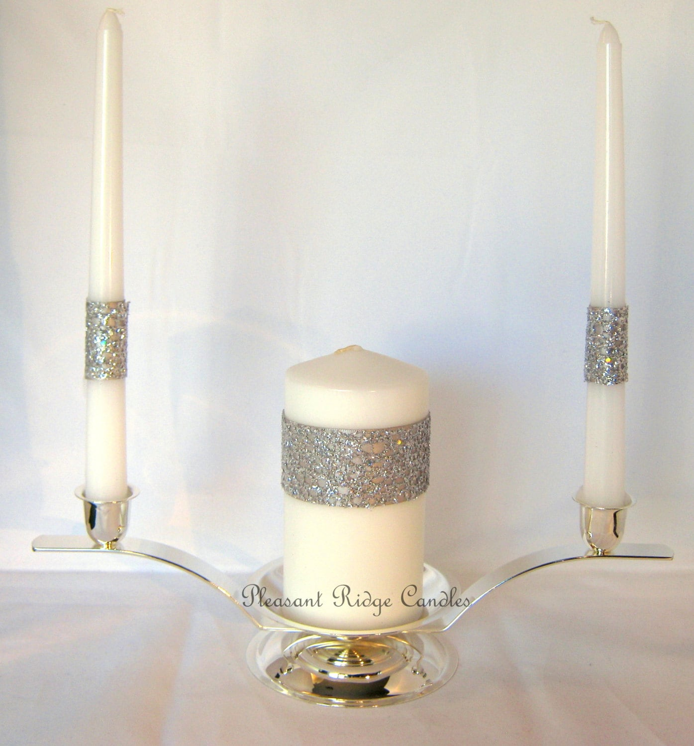 Wedding Candles: Bling Unity Candle Set Wedding Candle By PleasantRidgeCandles