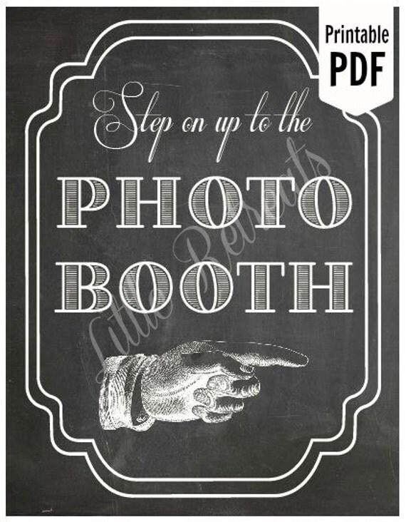Diy printable chalkboard pdf photo booth sign by littleretreats for Printable chalkboard signs