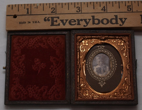 Beautiful Antique Union Case for daguerreotype - ambrotype or contemporary photographs