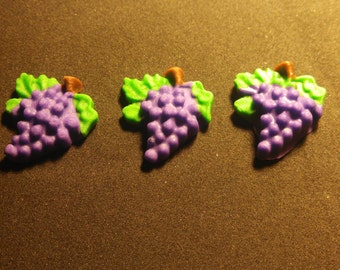Edible Fondant Grapes-Set of 12-Cake/Cupcake Toppers