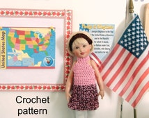 Crochet pattern (PDF) for 7-8 inch child doll - halter dress & jacket - for Riley Kish Betsy McCall etc.