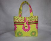 Flower Power Little Girls Purse/Tote