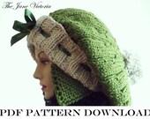 Aviator Tam Knitting PATTERN, Nellas Telrunya, PDF DOWNLOAD