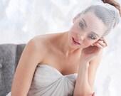 Double layer mini birdcage veil, birdcage veil, tulle birdcage veil, bridal veil - READY TO SHIP