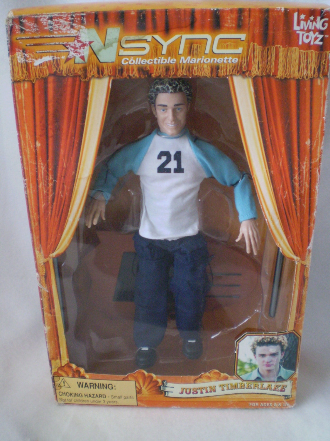Retro N Sync Justin Timberlake Marionette Puppet Doll In