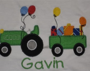 Tractor Farming Birthday Shirt Boutique Custom Personalized