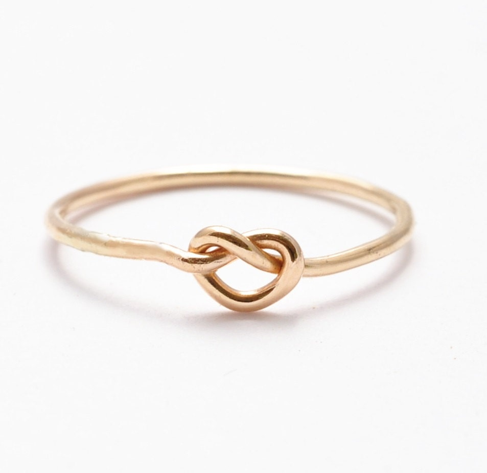 Gold Knot Ring 14k Yellow Gold Filled Gifts For Teenage