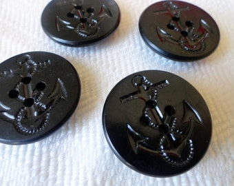 1940s Sailor Uniform Vintage Buttons - WWII Era Military in YOUR CHOICE of Sizes