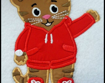 Tiger Boy Applique Embroidery Design