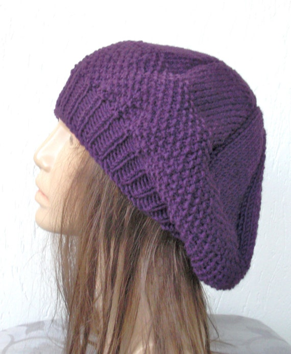 Knitting Pattern For Womens Beret : Instant Download Knit hat pattern Digital Hat Knitting by Ebruk