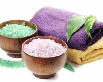 Bath Salts - Gift Sets -  Total 16 oz. - Eucalyptus Spearmint 8 oz. - Lavender 8 oz. -  Essential Oils -  Aromatherapy -  Bath And Beauty