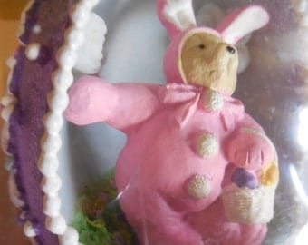 Vintage Bear Muffy VanderBearCollector Egg Muffy Bunny Sugar Egg Easter