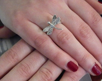 DRAGONFLY - Sterling silver dragonfly ring