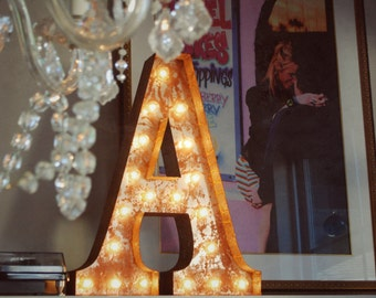 sale vintage marquee lights letter a