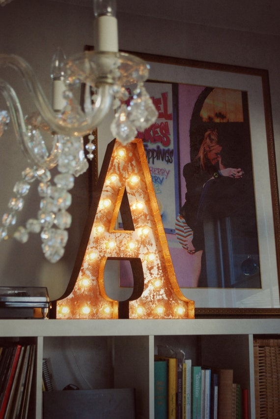 FREE SHIPPING Vintage Marquee Lights - Letter A