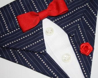 Navy Bandana Suit Sz XS S M