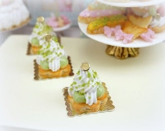 Pistachio St Honoré Pastry - 12th Scale Miniature Food