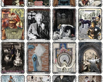 Steampunk Tarot Deck DIY Instant DOWNLOAD