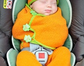 make your own SnuggleBug Car Seat Cozy (DIGITAL KNITTING PATTERN) newborn baby