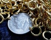 7mm 14kt Gold gefüllte Federring Schmuckverschlüsse Menge: 12 Stück