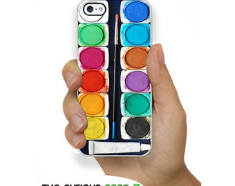 iPhone 5S Watercolor Rainbow Artist Case Plastic or Rubber Case for iPhone 5 iPhone 5S