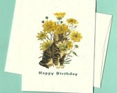 Happy Birthday Cat Card, printed on recycled cardstock