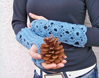 Fingerless Gloves Pattern, Knitting Pattern, Crochet Pattern, Fingerless Mittens Pattern, Knit Fingerless Gloves, Crochet Fingerless Gloves