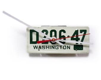 1953 Washington Wall Clock - Bicycle License Tag - Mini WA Bike License Plate - 60th Birthday Gift