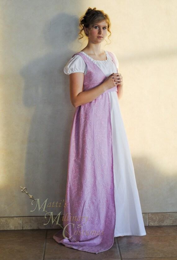 Custom Regency Jane Austen Open Robe Over Dress Gown