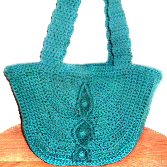 Free Crochet Bag Patterns To Download : Cable Bobble Bag PDF Crochet Pattern Instant Download