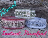 Beads and Ladders Crochet Bracelet - Tutorial How-to Pattern PDF or ePub Instant Download