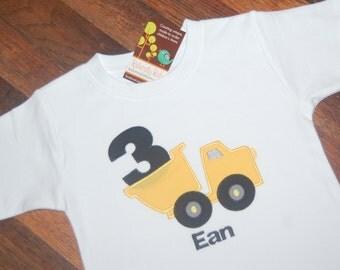 Construction Birthday Shirt / Dump Truck Birthday Shirt / Boys Birthday Shirt / Dump Truck Birthday / Boys Birthday Shirt /