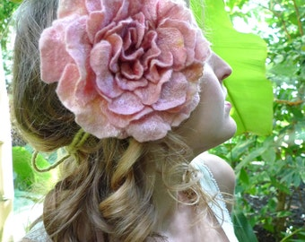Headpiece, Felt Rose Fascinator