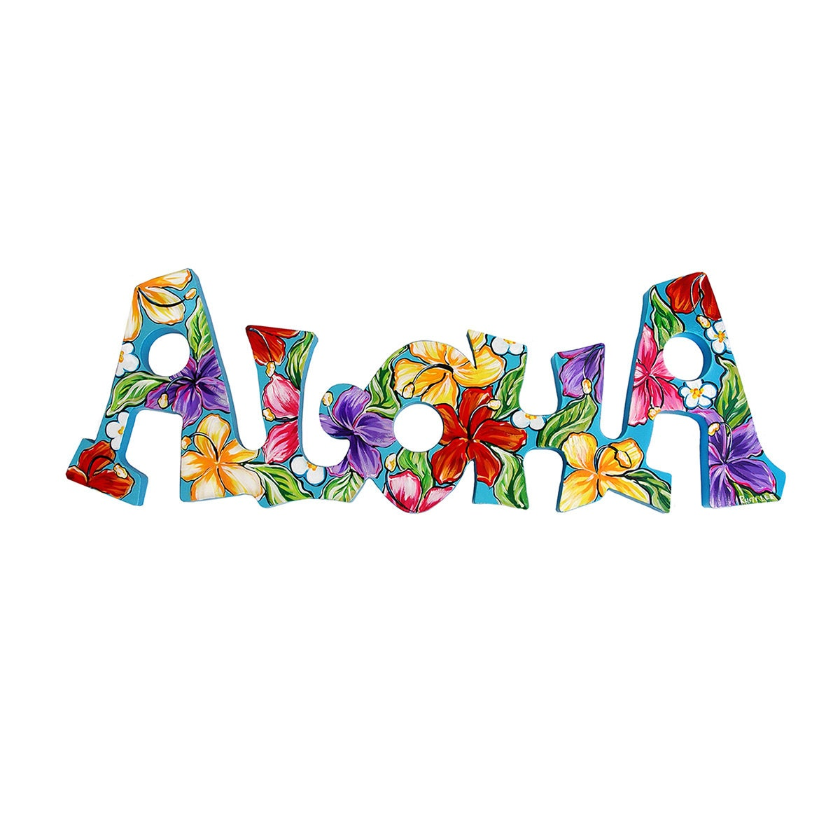 Personalized 8x24 Hawaiian Themed Aloha Sign