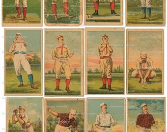 Vintage Baseball Cards Collage Sheet 102  Instant Digital Download