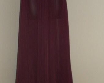 Egyptian Fusion Bellydance Maroon Chiffon Professional 7 Yard Circle Skirt- 036