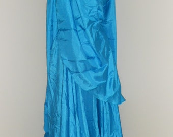 Egyptian Fusion Bellydance Turquoise 5 Yard Circle Skirt and Veil Set
