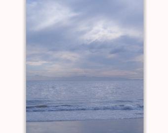 Large 20x24 Dreamy California Beach Photograph, Ocean and Clouds, Beach Artwork, Ocean Photography, Seashore Print