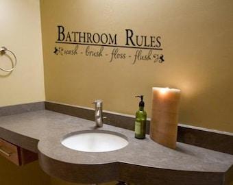 Popular items for bathroom decal on etsy for Mens bathroom decor