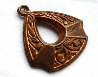 4 Vintage 1950's Edwardian Tear Drop Pendants // Art Nouveau Earrings
