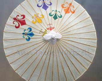 Parasol - Large Fleur de Lis Parasol