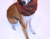 Italian Greyhound (Small Dog) Snood or Neck Warmer in Hot Chocolate Color