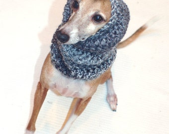 Italian Greyhound (Small Dog) Snood or Neck Warmer in Stormy Skies.