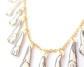 Teeth Necklace - Halloween, Tooth, Molars, Premolars, Canines, Incisors, Zombie, Bones, Skeletal, X Ray, Anatomical, Dental, Dentist, Tribal