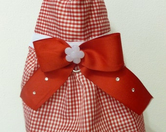 Dog Dress Gingham xsmall - Free Shipping to USA and PR
