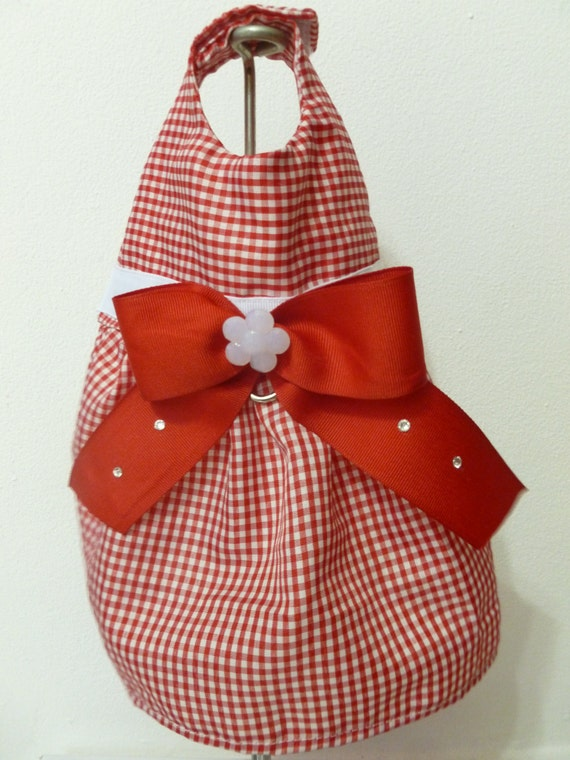 Dog Dress Gingham -XS- Free Shipping to USA and PR