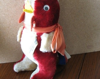 Vintage Plush Rooster Doll Toy - Expert Doll & Toy Co. NY