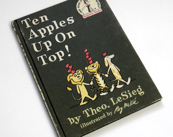 Ten Apples Up On Top by Theo LeSieg 1961 Hc / Vintage Childrens Dr. Seuss Beginner Book